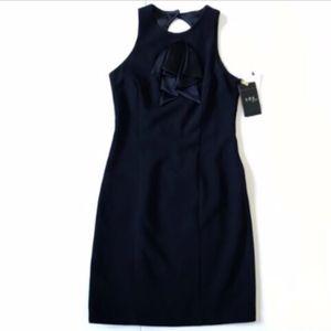 NWT Allen Schwarts ABS Black Sheath Dress 2 NEW